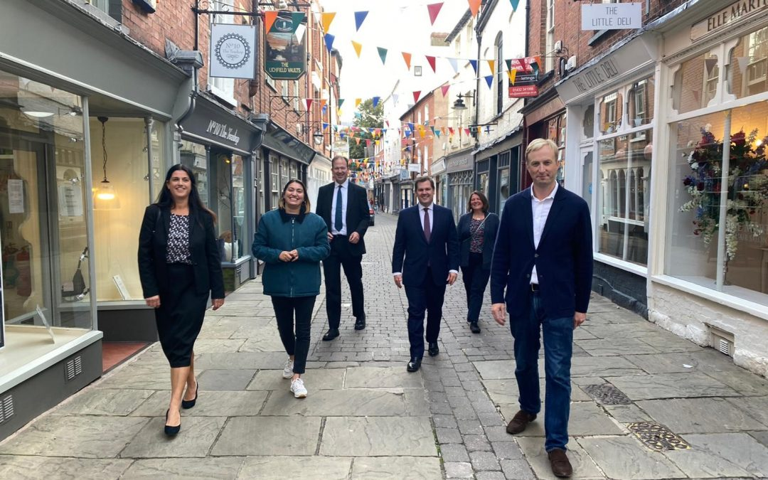 The Stronger Hereford board (Towns Fund) meet Robert Jenrick in the independent quarter in Hereford