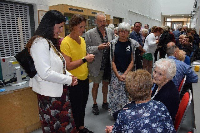 Kath Hey Mayor of Hereford meets the community